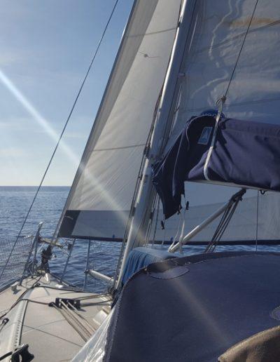 El Virazon navegando