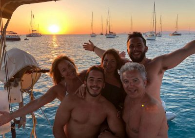 reuniones familiares en velero
